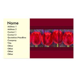 Rote Tulpe-Blumen malend - multi Visitenkartenvorlage
