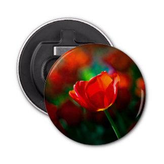 Rote Tulpe - Geheimnis des Blühens Flaschenöffner