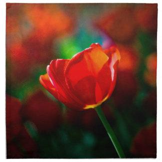 Rote Tulpe - Geheimnis des Blühens Serviette