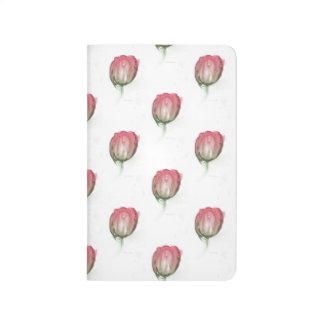 Rote Tulpe Taschennotizbuch