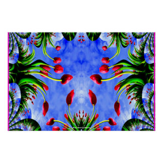 Rote Tulpe-Whimsy niedliches Girly Poster