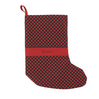 Rote Tupfen Kleiner Weihnachtsstrumpf