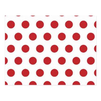 Rote Tupfen Postkarte