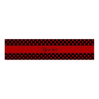 Rote Tupfen Serviettenband