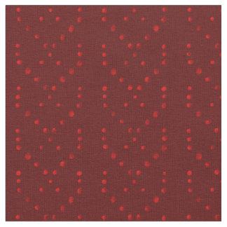 Rote Tupfenborte stripes Gewebe Stoff