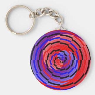 Rote u. blaue Zähler-Spirale durch Kenneth Yoncich Schlüsselanhänger