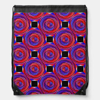 Rote u. blaue Zähler-Spirale durch Kenneth Yoncich Sportbeutel