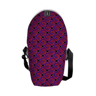 Rote u. blaue Zähler-Spirale Kurier Taschen