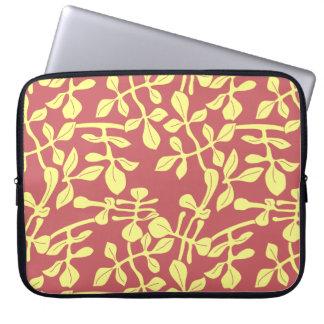 Rote u. gelbe Blatt-Entwurfs-Laptop-Neopren-Hülse Laptop Sleeve