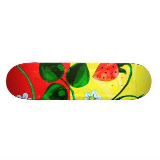 Rote u. gelbe Frühjahr-ErdbeerBlumen 21,6 Cm Skateboard Deck