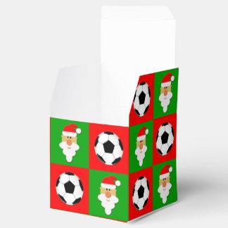 Rote u. grüne Fußbälle u. Sankt-Weihnachtsgeschenk Geschenkschachtel