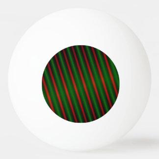 Rote u. grüne Streifen/Linien Muster Ping-Pong Ball