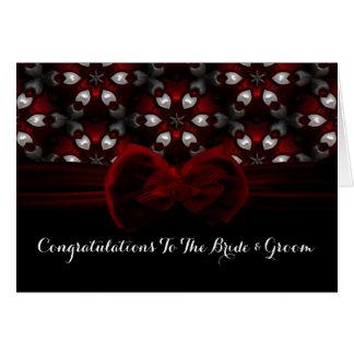 Rote u. schwarze dunkle Nachtgotische Hochzeit Grußkarte