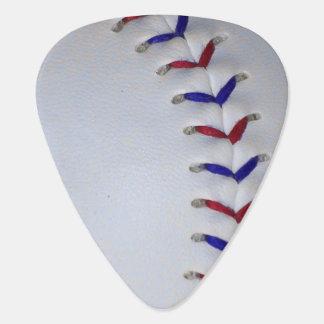 Rote und blaue Baseball-/Softball-Stiche Plektron