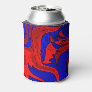 Rote und blaue extravagante Dose cooler Dosenkühler