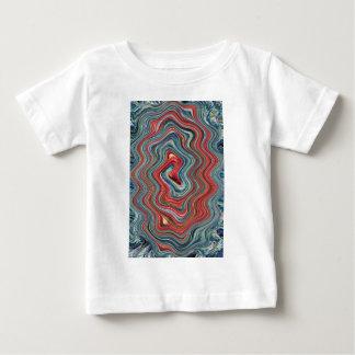 Rote und blaue psychedelische Rotation Baby T-shirt