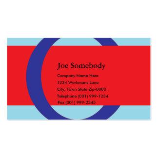 Rote und blaue Visitenkarte-Schablone Visitenkarten