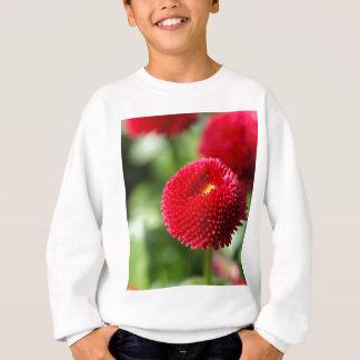 Rote und gefüllte angebaute Gänseblümchen Sweatshirt