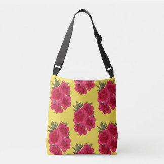Rote und gelbe Azaleen-Blume Crossbody Tasche