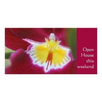 Rote und gelbe Orchidee Karte