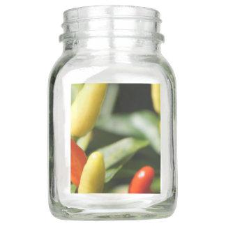 Rote und gelbe Paprika-Pflanze Einmachglas