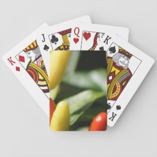 Rote und gelbe Paprika-Pflanze Spielkarten