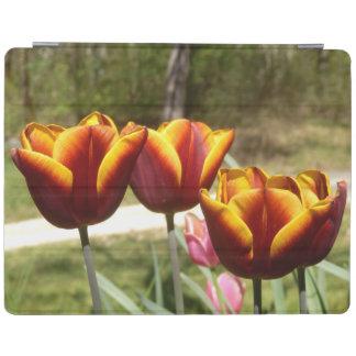 Rote und gelbe Tulpen iPad Abdeckung iPad Hülle