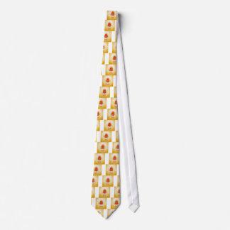 Rote und goldene Eier fröhlicher Ostern Krawatte