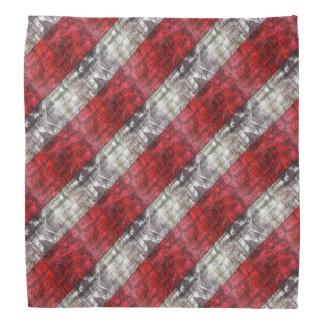 Rote und graue strukturierte Streifen Halstuch