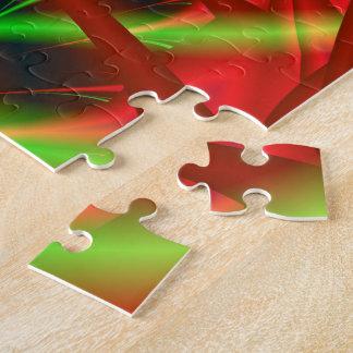 Rote und grüne neurales Netz-Spirale Puzzle
