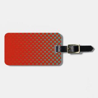 Rote und grüne Retro Punkte Gepäckanhänger