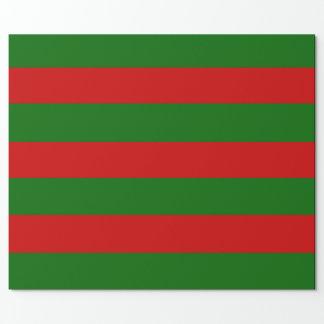 Rote und grüne Streifen Geschenkpapier