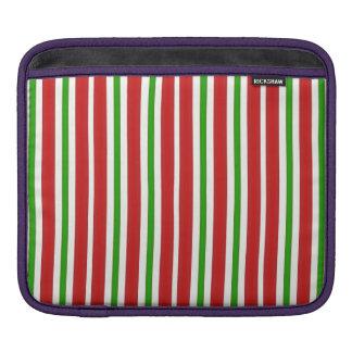 Rote und grüne Streifen iPad Sleeve