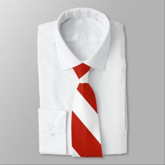 Rote und Hochschulstreifen-Krawatte des Weiß-III Krawatte