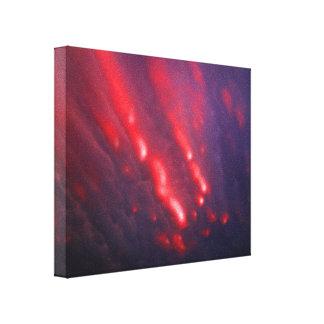 Rote und lila Wolken-Abstraktion Leinwanddruck
