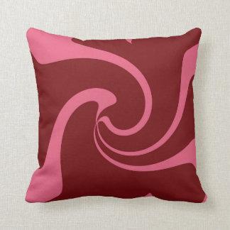 Rote und rosa Drehung Kissen