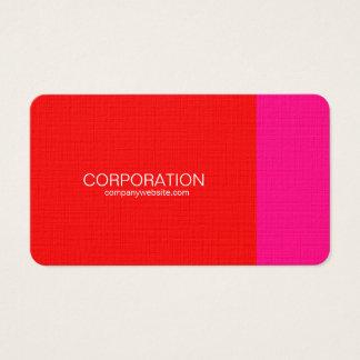 Rote und rosa noble Visitenkarten