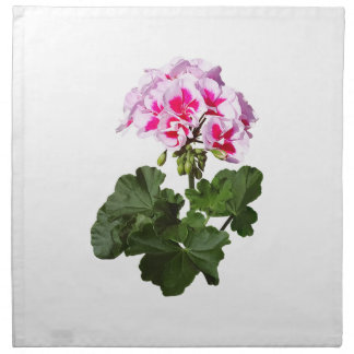 Rote und rosa Pelargonie Stoffserviette