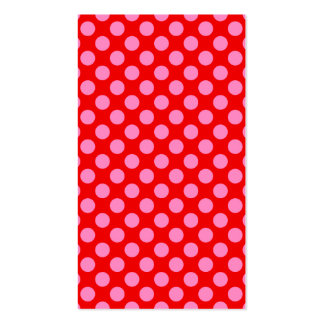 Rote und rosa Tupfen Visitenkarten
