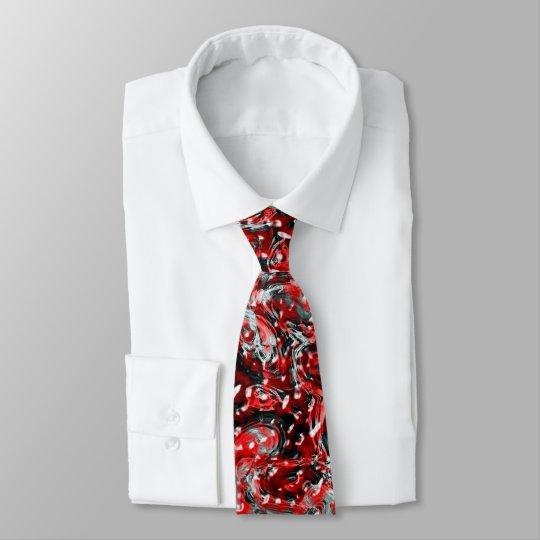 Rote und schwarze abstrakte flüssige krawatten