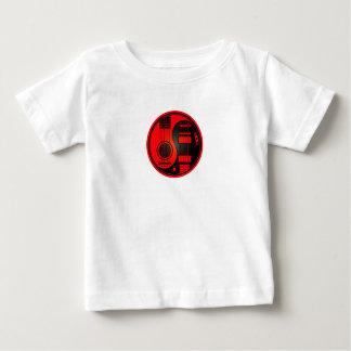 Rote und schwarze akustische E-Gitarren Yin Yang Baby T-shirt
