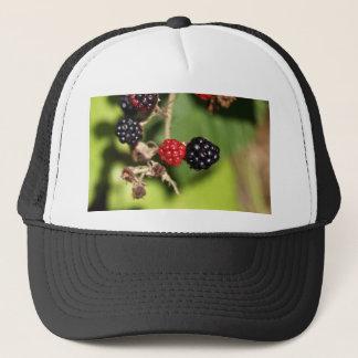 Rote und schwarze BlackBerryfrüchte Truckerkappe
