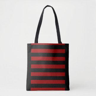 Rote und schwarze gestreifte Taschen-Tasche Tasche