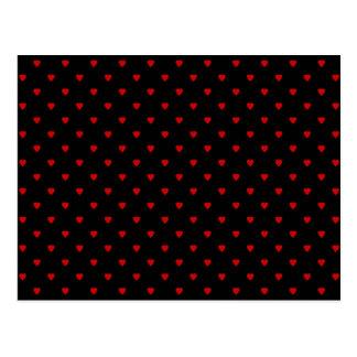 Rote und schwarze Herzen. Muster Postkarten