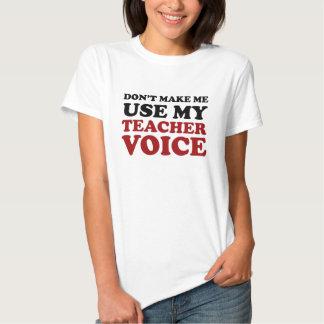 Rote und schwarze lustige Lehrer-Stimme T Shirt