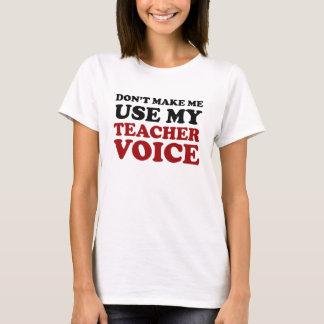 Rote und schwarze lustige Lehrer-Stimme T-Shirt