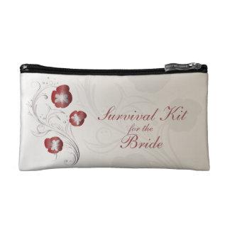 Rote und silberne Pansy-Braut-Überlebensausrüstung