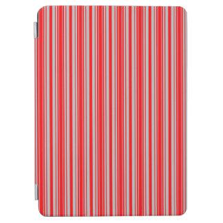 Rote und silberne Weihnachtsstreifen iPad Air Hülle