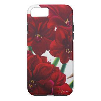 Rote und weiße Amaryllis 2008 iPhone 8/7 Hülle