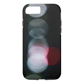 Rote und weiße Bokeh Abstraktion iPhone 8/7 Hülle